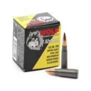 Wolf Performance Copper Jacket Steel Cased FMJ