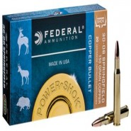 Federal Power Shok Copper Centerfire HP