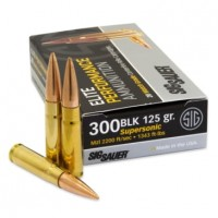 .300 AAC Blackout - Sig Sauer Elite Performance Supersonic FMJ